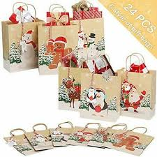<b>OurWarm 24pcs</b> Christmas Gift Bags, Xmas Party Bags Candy ...