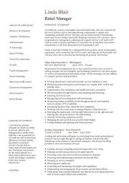 Retail manager CV template, resume, examples, job description
