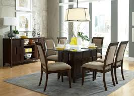 Glass Dining Room Tables Round Contemporary Rectangle Glass Dining Table With Brown Varnishes Oak