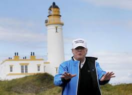 「the golf site in scotland, possessed by trump」の画像検索結果