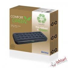 Comfort Green Air Mattress (<b>Single</b>), Furniture, Beds & Mattresses ...