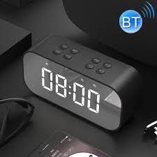 Mirror LED Alarm Clock Mini Wireless <b>bluetooth Speaker</b> Radio <b>MP3</b> ...