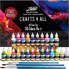 Fabric Paint 3D Permanent 24 Colors Set Premium ... - Amazon.com