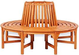 mewmewcat <b>Circular Tree Bench</b> Wooden Garden <b>Round Bench</b> ...