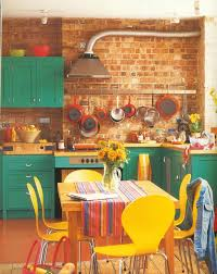 fun bright and retro kitchen love the pop of colours with the contrast between brightly colored offices central st