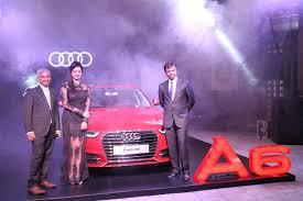 new car launches in chennaiPooja Kumar Launched Brand New Audi A6 Matrix in Chennai  Photos