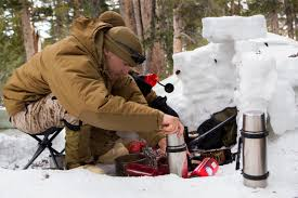 u s department of defense photo essay marine corps lance cpl ryan molik prepares to melt snow into drinking water for his