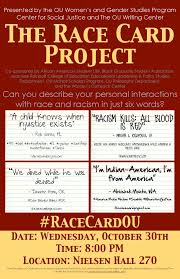 the race card college of arts and sciences the university of the race card project flier