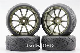 Online Shop <b>4pcs RC</b> 1/10 Hard Drift <b>Tire Tyre Wheel Rim</b> GT10NW ...