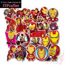35pcs marvel anime super hero spiderman stickers toy waterproof sticker car skateboard suitcase laptop refrigerator