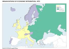 history membership of different organisations for european integration in 1973