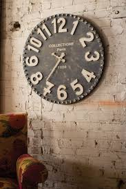 30 large wall clocks that dont compromise on style brick desk wall clock