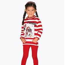 <b>Комплект</b> для девочки: джемпер, <b>2 пары</b> леггинсов Красный ...