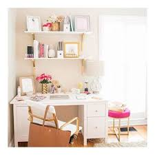so while i am a wood decor freak i also like the idea of my office being a little more colorful incorporating white and pops of gold and color to add a bright basement work space decorating