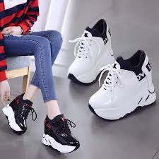 Women's Vulcanized <b>Sneakers</b> 2018 Breathable PU Leather <b>Shoes</b> ...