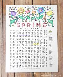 Small Picture Free Printable Spring Word Search Coloring Page artsy fartsy mama