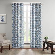 Madison Park Ashlin <b>Diamond Printed</b> Window Curtain|Designer ...