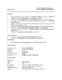 resume manual testing