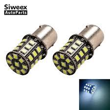<b>2 PCS BA15S</b> 1156 <b>BAY15D</b> 1157 <b>33 SMD</b> 3030 LED Car Bulbs ...