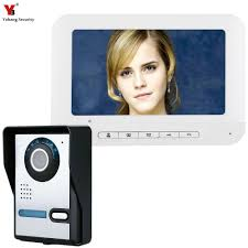 <b>Yobang Security</b> 7inch Color Wired <b>Video Intercom</b> Door Phone ...
