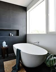 interesting black white bathroom