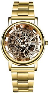 Men's Watch, 2020 Luxury Hollow Gold Quartz ... - Amazon.com