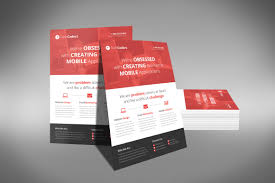 a professional and flat design corporate flyer psd template flat flyer design o