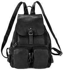Coolcy Casual <b>Women</b> Real Genuine Leather Backpack <b>New</b>