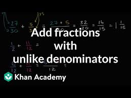 Adding fractions with unlike denominators (video) | Khan Academy