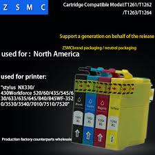 4 color 1set <b>compatible</b> EPSON 126 <b>ink cartridge</b> T1261 for ...