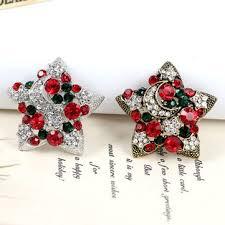 1 pc <b>new</b> year christmas gifts star brooches <b>fashion design</b> colorful ...