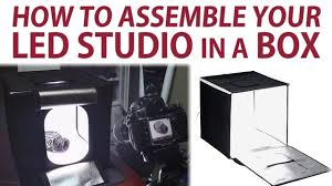 How to Assemble the Fotodiox <b>LED</b> Studio in a Box - YouTube