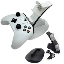 LED 2 Dock Charging Station <b>Stand For</b> Xbox One S <b>Game Console</b> ...