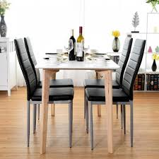 <b>4 pcs</b> PVC Leather Elegant Design <b>Dining</b> Side <b>Chairs</b> - Kitchen ...