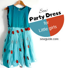 DIY Party Dress Pattern for girls {Step by step Sewing tutorial} - Sew ...