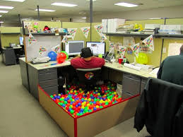 halloween decorations for office ball pit attractive manly office decor 4 office cubicle