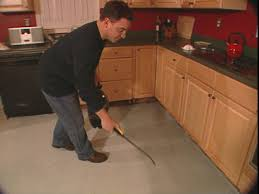 Concrete Floor Kitchen How To Install A Skim Coat For A Concrete Floor How Tos Diy