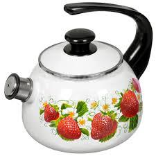 <b>Чайник эмалированный</b> КМК Керчь 43604-102/10 <b>со свистком</b>, 2 л
