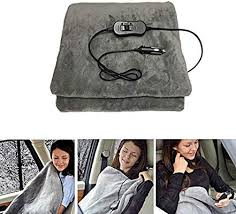 Goalftek <b>12V</b> Heated Electric Blanket Heated Travel Warm Quilt for ...