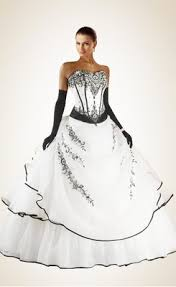 awesome beading embroidery black and white organza wedding dress awesome black white