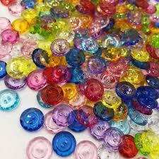 10/50/100 pcs acrylic buttons shirt buttons 2 holes Square shape ...