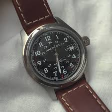 men s hamilton khaki field 38mm automatic watch h70455533 i bought this watch for myself after a few weeks of research and browsing other brands models from the micro brands to the mainstream but kept coming back
