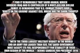 Bernie Sanders on ISIS - Imgflip via Relatably.com