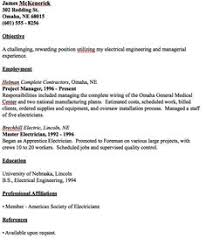independent contractor resume sample   http   resumesdesign com    example of master electrician resume   http   resumesdesign com example