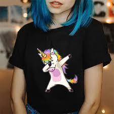 Korean Style Ulzzang Fashion <b>Tshirt</b> Plus Size Unicorn Tops ...