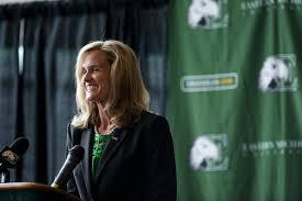 eastern michigan athletic director faces steep money challenge eastern michigan ad heather lyke receives contract extension through 2019 20
