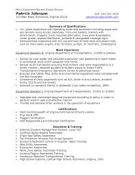 sample resumes machine operator resume examples resume sample resumes machine operator