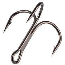 <b>10pcs</b> Treble Hook 2# 10# High <b>Carbon</b> Steel Fishhooks Triple ...