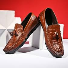 Prelesty British Autumn Men <b>Real Leather Formal</b> Shoes <b>Crocodile</b> ...