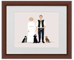 st wedding anniversary gift ideas paper gift ideas custom star wars family portrait
